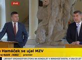 Cože? O tom nic nevím. Hamáček a Babiš pod palbou novinářů při převzetí ministerstva zahraničí. Které bude stejně řídit Poche
