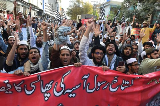 A Pakistan Court Overturned a Christian Woman's Death Sentence for Blasphemy. Now, Protests Are Spreading Across the Country