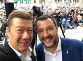 Extremisté nejsou na tomto náměstí, extremisté už dvacet  let sedí v Bruselu. Okamura, Salvini, Le Penová a Wilders na jednom pódiu. A my byli u toho